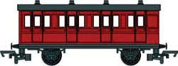 Bachmann HO Red Brake Coach, LIST PRICE $42