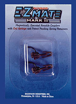 Bachmann HO EZ Mate Mark II Center Knuckle Coupler, Long 1Pr, LIST PRICE $2.5