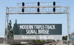 BLMA B/U Modern TT Signal Bridge, LIST PRICE $124.95