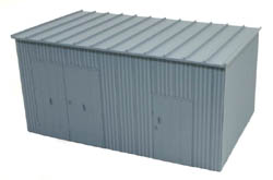 BLMA HO Trackside Equipment Shed (Assembled), LIST PRICE $9.45
