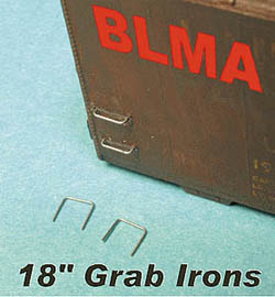 "BLMA N 18"" Straight Grab Irons - .007"" wire (20), LIST PRICE $7.95"