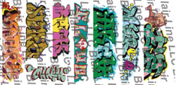 Blair Line HO Graffiti dcls Mega #5  8/, LIST PRICE $6