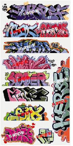 Blair Line HO Graffiti, Mega Set #8, LIST PRICE $6