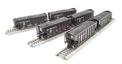 Broadway Ltd HO H2a 3-Bay Hopper B&O Pack R (6), LIST PRICE $159.99