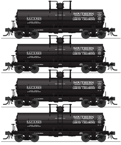 Broadway Ltd HO 6k Gal Tank Southern Alkali 4-pk, DUE 1/30/2019, LIST PRICE $139.99