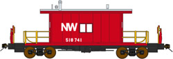 Bluford HO Trsf Cab Norfolk & Western - red #518741, LIST PRICE $49.95