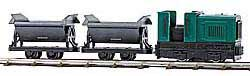 Busch HOn2 Feldbahn Industrial Diesel Train Set w/Battery Controll, LIST PRICE $329.99