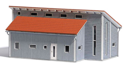 Busch HO Commercial Building, LIST PRICE $75.99