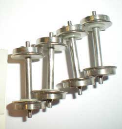 "Cal Scale HO 36"" Wheels w/Shouldered Axle (4), LIST PRICE $6.7"