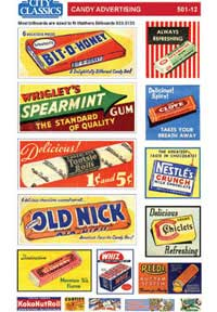 City Classics HO Candy Advertising Signs Set #1, LIST PRICE $3