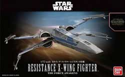 """BANDAI 1:72 Resistance X-Wing Star Fighter """"Force Awakens"""", LIST PRICE $25"""