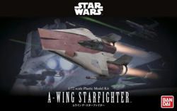BANDAI 1:72 A-WING STARFIGHTER, LIST PRICE $28