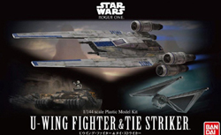 "BANDAI 1:14 U-Wing Fighter & Tie Striker ""Rogue One"", LIST PRICE $26"