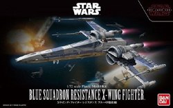 """BANDAI 1/72 Plastic Model Blue Squadron Resistance X-Wing Fighter """", LIST PRICE $28"""