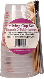 Environmental Technology, Inc. Mixing cup set, LIST PRICE $10.25