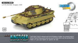 DRAGON ARMOR DIECAST Kingtiger Henschel Tur.1:72, LIST PRICE $43.95
