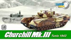 DRAGON ARMOR DIECAST Churchill Mk.Iii Tunisia '43, LIST PRICE $41.95