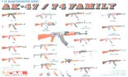 DML MILITARY KITS AK-47/74 FAMILY PART 1 1:35   , LIST PRICE $11
