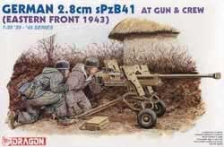 DML MILITARY KITS GERMAN 2.8cm SpzB41 AT W/CREW , LIST PRICE $16.65
