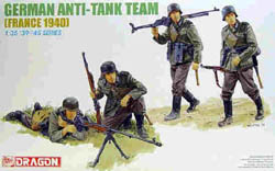 DML MILITARY KITS GERMAN ANTI-TANK TEAM 1:35    , LIST PRICE $10