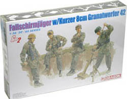 DML MILITARY KITS 1/35 8cm gr.W.42 Mortar Team, LIST PRICE $7.13