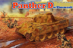 DML MILITARY KITS 1/35 Panther Ausf.D w/Zimm, LIST PRICE $62