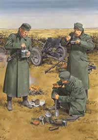 DML MILITARY KITS GERMAN ANTI-TANK GUN CREW 1:35, LIST PRICE $31.99