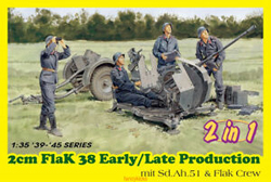 DML MILITARY KITS 2cm Flak 38 Early /Late 1:35, LIST PRICE $36.5