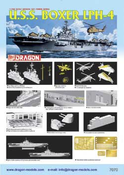 DML MILITARY KITS USS BOXER LPH-4 COPTER CARRIER, LIST PRICE $47.79