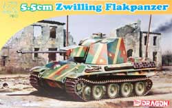 DML MILITARY KITS 5.5Cm Zwilling Flakpanzer 1:72, LIST PRICE $27.25