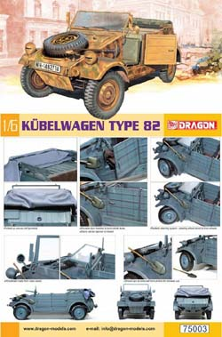 DML MILITARY KITS 1/6 Kubelwagen, LIST PRICE $61.39