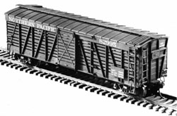 Central Valley HO 40' Stock car kit undec, LIST PRICE $14.25