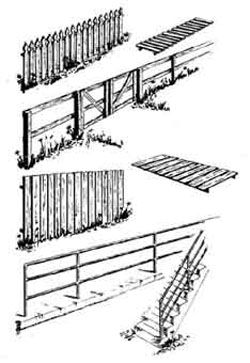 Central Valley HO Fences & railings set  4/, LIST PRICE $6.88