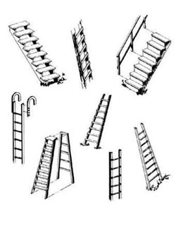 Central Valley HO Steps & ladders set    4/, LIST PRICE $6.88