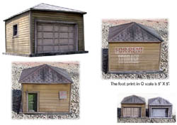 Clever Models HO Frame Storage Bldg/Garage, LIST PRICE $10.95