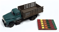 Classic Metal 1:87 1954 Ford Stakebed & Produce Crates Ferguson Farm  , LIST PRICE $22.99