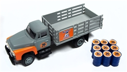 Classic Metal 1:87 1954 Ford Stakebed Truck & Oil Drums Union 76  , LIST PRICE $23.25