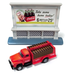 Classic Metal 1:87 1954 Ford Bottle Truck & 1950's Billboard Coca-Cola  , LIST PRICE $29.99