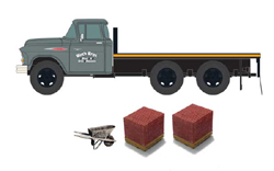 Classic Metal HO 1:87 1957 CHEVY FLATBED TRUCK , LIST PRICE $26.99