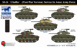 "Bronco Models 1/35 M-24 ""Chaffee"" (Post War) Asian Army Force, LIST PRICE $73"