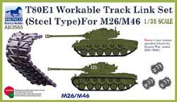 Bronco Models T80E1 TRACK LINS SET M26/4 :35, LIST PRICE $24.25