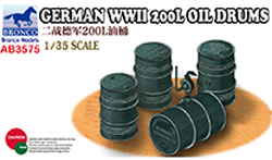 Bronco Models German Wwii 200L Oil Drums :35, LIST PRICE $9.5