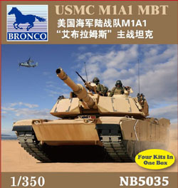 Bronco Models 1/350 USMC M1A1 Abrams Tank, LIST PRICE $8.75