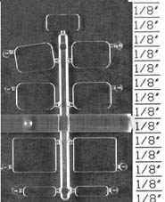 Detail Assoc Cab Windows �Baldwin� S 12, Athearn (1 set), LIST PRICE $3.4