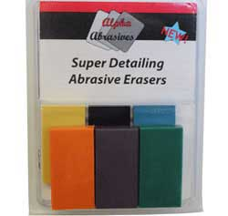 Creations Unlimited Abrasive Super Detailing Erasers, LIST PRICE $29.99