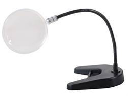 "Donegan Optical Co. (Optivisor) 4""FLEX-ARM MAGNIFIER W/base   , LIST PRICE $41.09"
