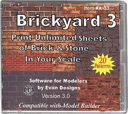 Evan Designs Brickyard Software Ver 3, LIST PRICE $15