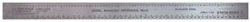 "Excel Hobby Blades 12"" RULER R.R. STAINLESS , LIST PRICE $13.34"
