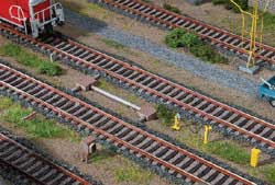 Faller HO Trackside Accessories Weathered Plastic & Laser Cut Wood, LIST PRICE $34.99