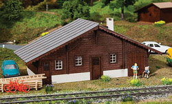 Faller HO Langwies Goods Shed, LIST PRICE $56.99